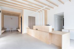 Hekla / Architecture / Interieur / Analabo / Laboratoire d'analyses / Bordeaux / Bois / Accueil / Mobilier / Bureau / Medical / Trame / Ossature bois