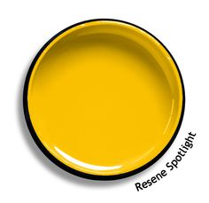 Resene Spotlight is an 'over the top' graphic yellow, hard to miss. Try Resene Spotlight with mid toned magenta violets, bold blues or sharp neutrals such as Resene Centre Stage, Resene Elvis or Resene Quarter Thorndon Cream. From the Resene The Range fashion colours. Latest trends available from www.resene.co.nz. Try a Resene testpot or view a physical sample at your Resene ColorShop or Reseller before making your final colour choice. Lilac Grey, Green And Grey, Bright Green, Retro Caravan, Colour Board, Fashion Colours, Color Pallets, My Favorite Color, Pallets