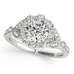 STYLE# 50868-E - Round - Halo - Engagement Rings