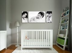 The pictures above crib...love love love! Also above any bed in the house. I'm a canvas gal :)