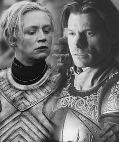 "Nikolaj Coster-Waldau (""Jaime Lannister"") and Gwendoline Christie (""Brienne of Tarth"") ... one of my fave lines!"