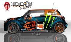 Ken Block Mini II Ken Block, Mini Cooper Custom, Mini Lifestyle, Mini Copper, Tyre Shop, Mini Clubman, Mini One, Sweet Cars, Automotive Art