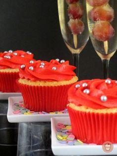 Cupcakes de cava y uvas