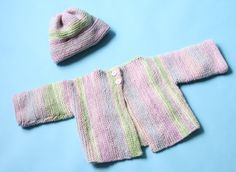 Rose Lichen Cardigan And Hat