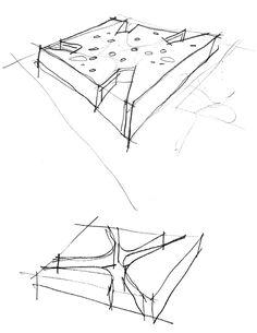 Gallery of Sant Josep Library / Ramon Esteve - 29 - Architecture Architecture Concept Diagram, Architecture Drawings, Architecture Details, Modern Architecture, Cv Photoshop, Conceptual Sketches, Fun Sketches, Library Pictures, Kunst Poster