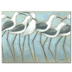 Shop Norman Wyatt Home Coastal Parade Gallery Wrapped Canvas Wall Art - Overstock - 18059695 - 16 x 20 Coastal Wall Art, Coastal Living, Coastal Decor, Fish Wall Art, Turtle Painting, Best Canvas, Labor, Wooden Wall Art, Mural Art