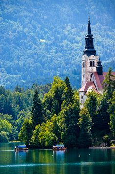 Lake Bled Island, Slovenia My husband's grandfather came to America from Slovenia when it was still part of the Austrian-Hungarian Empire.
