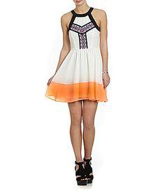 GB Embroidered Colorblock Dress #Dillards