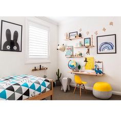 : Jaiken's bedroom : What three year old wouldn't love a little desk to draw, read and do Lego!? Jaiken (and his little brother) love this space! It was a pleasure to work with the talented @scottvantuil on this custom desk and shelving, and of course @littledwellings Image by @jacqui_turk x #tapfordetails
