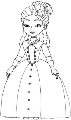 sofia the first coloring pages clio