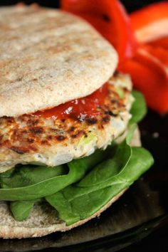 Lemon Thyme Tuna Burgers    uses 5oz Can Of Light Tuna packed in Water drained well    only 125 calories, 1 g of fat, 2 g of fiber