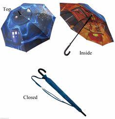 "Doctor Who TARDIS Stick Umbrella Vortex 39"" Official BBC Dr New Mint | eBay"