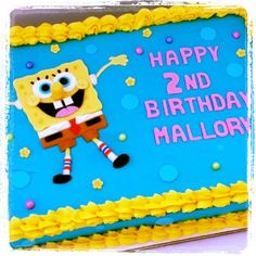 Spongebob Sheet Cake