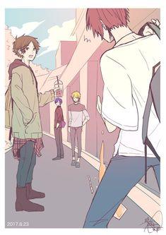 埋め込み Anime Chibi, Manga Anime, Anime Art, Persona 5 Joker, Fanart, Nichijou, Cute Anime Guys, Boy Art, Manga Drawing