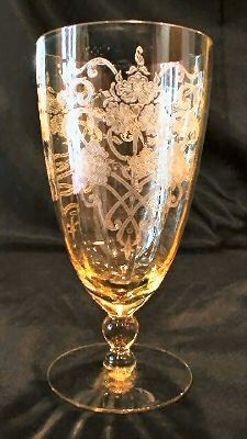 Patrick Depression Glass luv etched glasses
