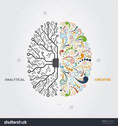Viendo la imagen original, me parece que el cerebro de un diseñador concienciado y con las ideas claras debería ser un 50% de creatividad y el otro 50% de racionalidad y de ética para no incumplir con normas tanto legales como morales a la hora de realizar su trabajo. Así, creo que esta idea puede transmitir lo que persigue el diseño ético.