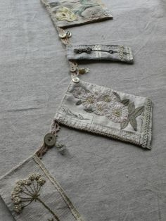 Beautiful 'gentlework'. Stitching and colours so lovely