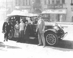 Sheriff Eugene W. Biscailuz standing at the right. Other individuals are unknown Sheriff, Sirens, Radios, 4x4, Old Police Cars, 1st Responders, Los Angeles County, Historical Pictures, Early American