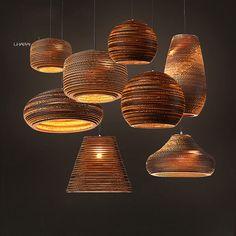 Golfdocument Lampenkap Moderne Hanglamp Creatieve Noord-europa stijl Armatuur E27 110-240 V Home Verlichting
