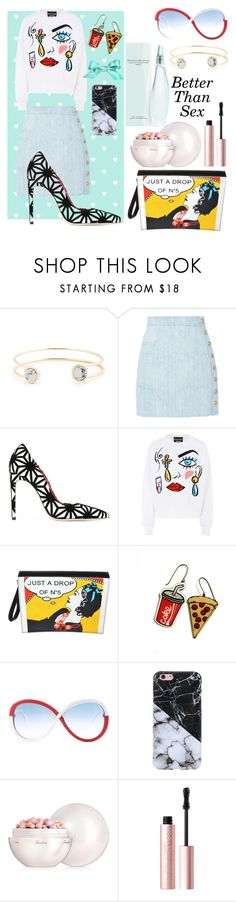 """""""Untitled #114"""" by marieantoinette-ii ❤ liked on Polyvore featuring Sole Society, Balmain, Dsquared2, Boutique Moschino, Chanel, Silhouette, Guerlain and Too Faced Cosmetics"""