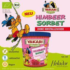"""""""YAKARI Bio Himbeer Sorbet von Helador * GLUTENFREI * LAKTOSEFREI * VEGAN *"""""""