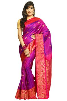 Buy Gadwal Silk Sarees Online @ India Sari House