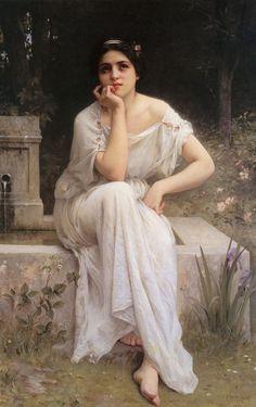 Meditation by Charles-Amable Lenoir