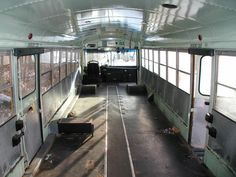 Old+School+Bus+Conversions+interior | School Bus to RV Conversion starting with a Big Yellow Bus ...