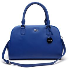 Lacoste Women's Daily Classic Top Handle Bag (340 CAD) ❤ liked on Polyvore featuring bags, handbags, bags bags, leather goods, top handle bag, lacoste bag, handle bag, blue handbags and lacoste