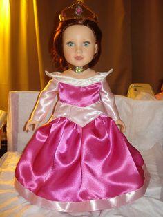 Made to order for Sleeping Beauty costume for Amercian Girl Dolls. $39.95, via Etsy.