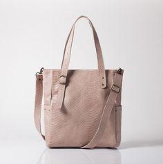 Genuine Leather Tote Bag, Large messenger bag, Blush tote bag, Handbag.