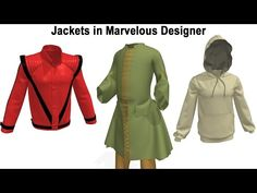 Marvelous Designer Tutorial on Jackets - YouTube