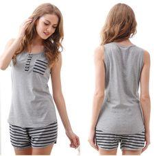Women's pyjamas style to help you look sharp 052 fashion Summer Pajamas, Cute Pajamas, Satin Pyjama Set, Pajama Set, Womens Fashion Online, Latest Fashion For Women, Pijamas Women, Womens Pyjama Sets, Pajama Outfits