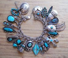 Large And Chunky Charm Bracelet With Native American Charms