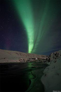 Aurora Borealis, Laxá í Kjós - west Iceland