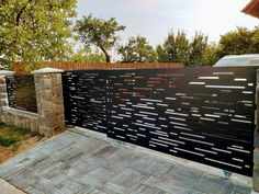 House Fence Design, Fence Gate Design, Privacy Fence Designs, Front Gate Design, Door Design, Wall Design, Modern Garage, Modern Fence, Home Grill Design