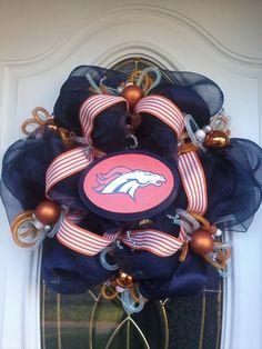 Denver Broncos Deco Mesh  Great Christmas Idea!!
