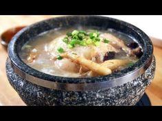 Ginseng Chicken Soup (Samgyetang)  http://www.maangchi.com/recipe/samgyetang  (cornish hen, glutinous rice, spring onions, red dates, ginseng)