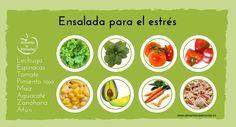 Ensalada para el estrés #alimentatubienestar #cocina #salud #bienestar