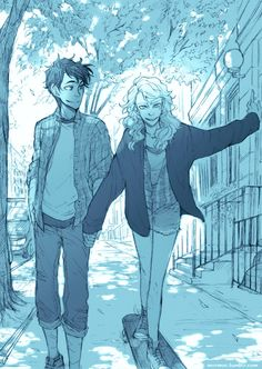 Percy and Annabeth after Roma UNIVERSITY. I don't know what is the name of original university.