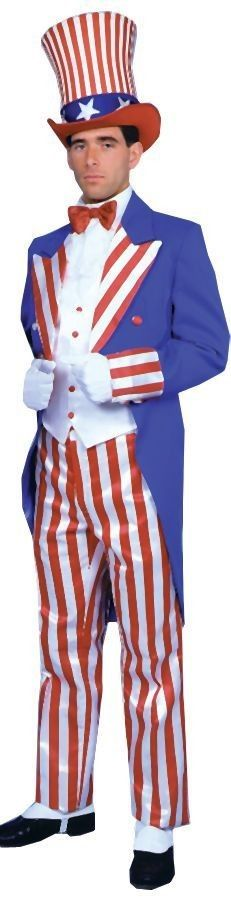 Uncle Sam Costume with Tall Top Hat