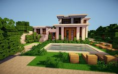 Modern Architecture Minecraft House