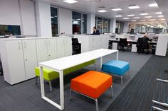 Kaspi Bank, Almaty +++ T-Meeting Table with #Coffice Stools & Bench.
