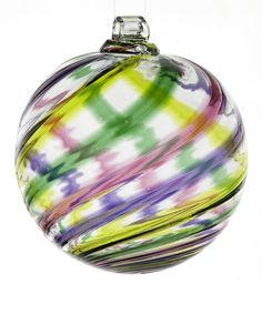 Take a look at this Yippee Celebration Ball Ornament by Kitras Art Glass on #zulily today!