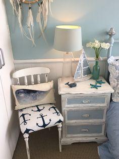 Love the coastal corner in my bedroom