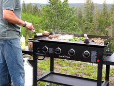 Outdoor Gas Griddle Stainless Steel Cooking Station 36 Inch Grill Tail Gate Camp #Blackstone