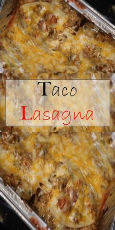 >> Lasagna Tacos >> >> you'll Need: 1 pound of ground beef or ground turkey 1 package of taco seasoning 1 . Mexican Dishes, Mexican Food Recipes, Beef Recipes, Cooking Recipes, Mexican Meals, Budget Recipes, Taco Lasagna, Lasagna Food, Lasagna Recipes