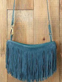 Cheyenne Suede Crossbody in turquoise