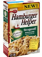 I take these new healthy versions of Hamburger Helper with whole grains and gluten free ... even a step further and use either ground turkey or a can of white chicken breast.    Delicious!  Having white chicken breast stroganoff for dinner tonight!