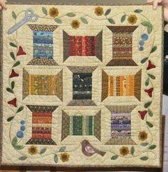 Spools of Thread Appliquéd Quilt